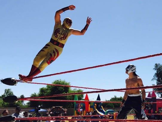 Lucha Libre Voz will perform Aug. 14 during Taco Festival