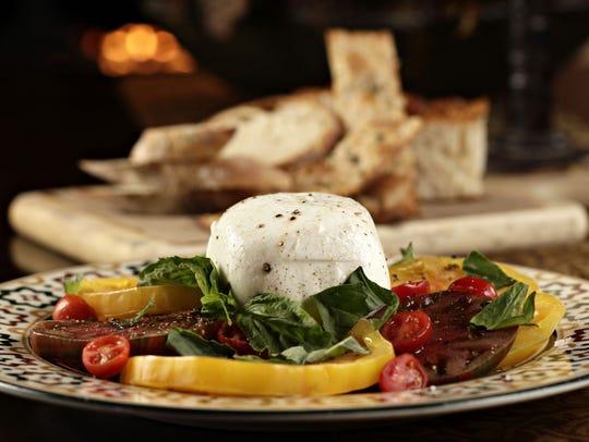 Buffala mozzarella caprese salad from Sassi in Scottsdale.