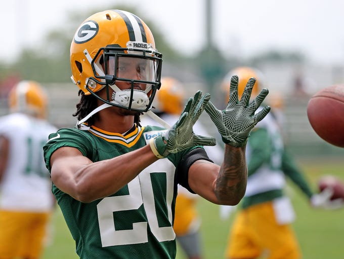 Cornerback Kevin King (20) during Green Bay Packers