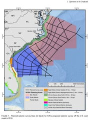 Five companies want to survey the Atlantic Ocean for