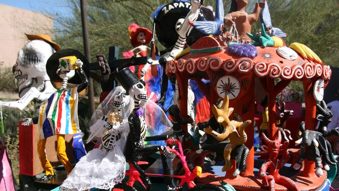 Mexican crafts will be on sale in El Mercado as part of Desert Botanical Garden's Day of the Dead celebration.