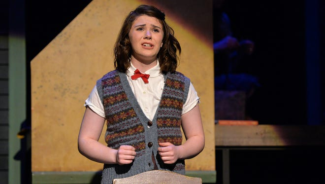 """Anne (Ahnika Lexvold) talks about the things she's written in her diary during a dress rehearsal of the GREAT Theatre production of """"The Diary of Anne Frank"""" on Monday, Jan. 25, at the Paramount Theatre."""