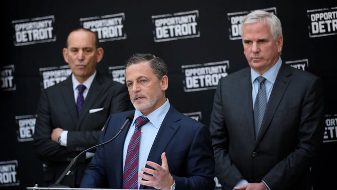 Don Garber, Major League Soccer Commissioner, Dan Gilbert, Quicken Loans Founder and Chairman and owner of Cleveland Cavaliers and Matt Cullen, President and CEO of Rock Ventures, announced a partnership to bring a Major League Soccer club to the site of the unfinished Wayne Count jail site in downtown Detroit.