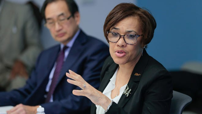 Flint Mayor Karen Weaver talks about the Flint water crisis with the Detroit Free Press on Tuesday January 30, 2018.