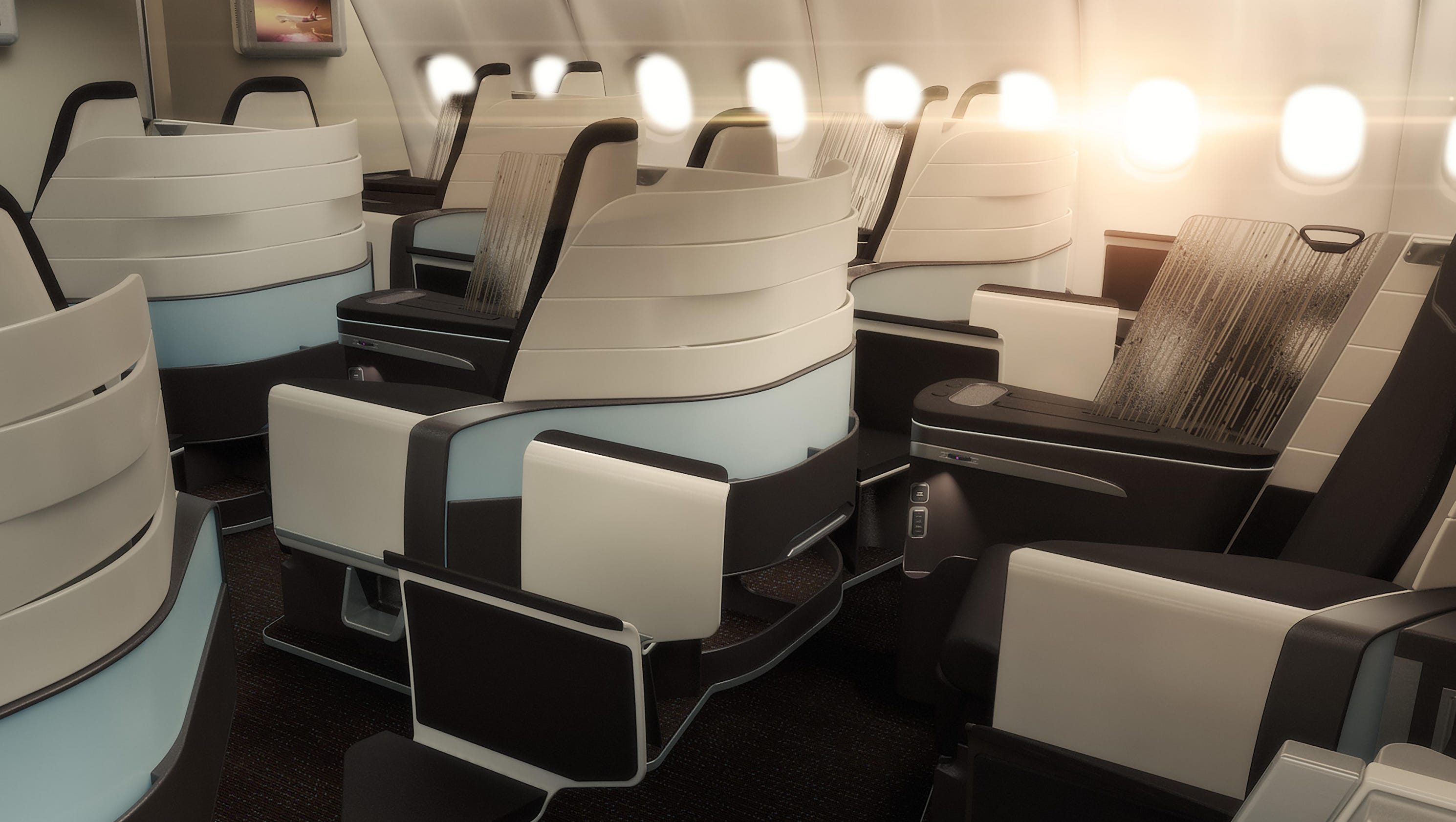 Hawaiian Airlines Unveils Lie Flat Seats For Its Airbus
