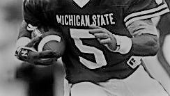 Ever see a number on a Michigan State football jersey and think of all the great players to wear it? Today, we look at who the best Spartan was to ever don the No. 5.