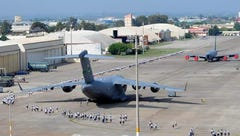 Airmen spread out around the flightline at Incirlik