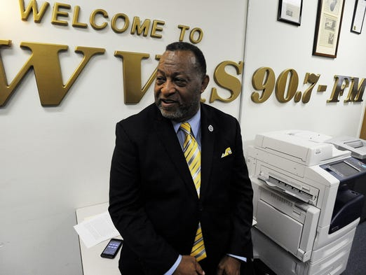 Alabama State University Board of Trustees Chairman Elton Dean at WVAS Radio Station on the ASU campus in Montgomery, Ala. on Thursday July 24, 2014.