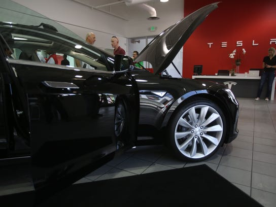 Tesla Motors opened a showroom in Cathedral City on