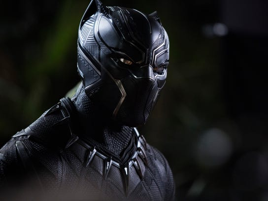"T'Challa/Black Panther (Chadwick Boseman) in ""Black Panther."""