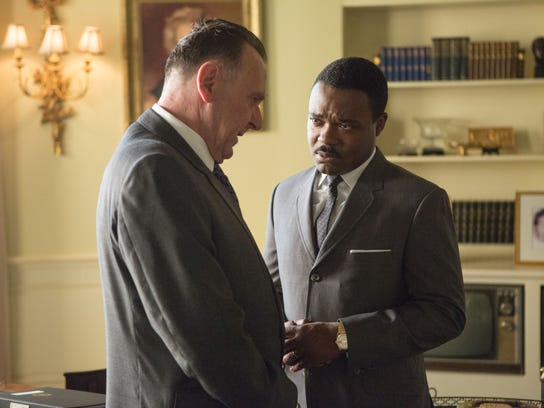 Wilkinson plays President Lyndon B. Johnson and David