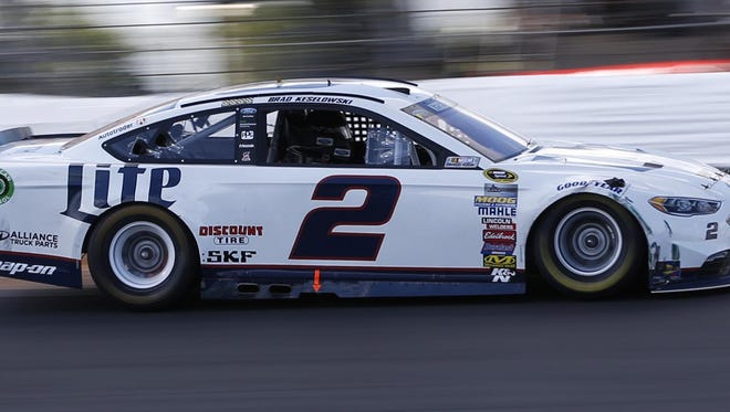 Team Penske driver Brad Keselowski leads the Sprint Cup standings heading into this weekend's race at Bristol, Tenn., and teammate Joey Logano is sixth. Keselowski has four victories in the series this season, and Logano won at MIS in June.