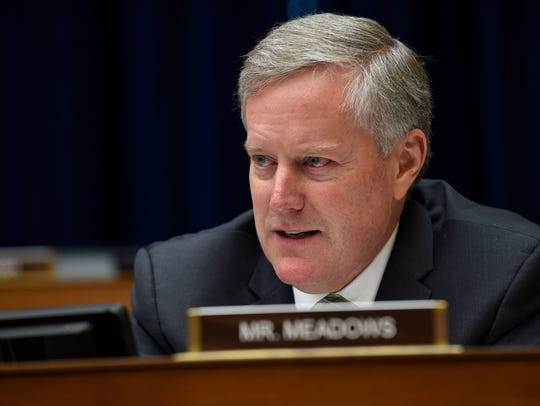 In this May 17, 2016, file photo, Rep. Mark Meadows,