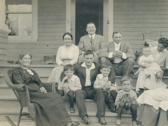 """This portrait of Mary Ramp with her children and grandchildren is featured in """"Portraits of a People: 6th Annual Heritage Invitational Exhibit,"""" showing Jan. 22 through April 16 at Willamette Heritage Center."""