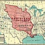 The Louisiana Purchase and treaties with tribes were two early means that the federal government used to acquire land in the name of manifest destiny.