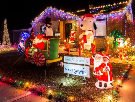 Christmas lights in Cedar City.