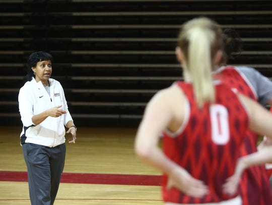 Marist women's basketball assistant coach, Keila Whittington
