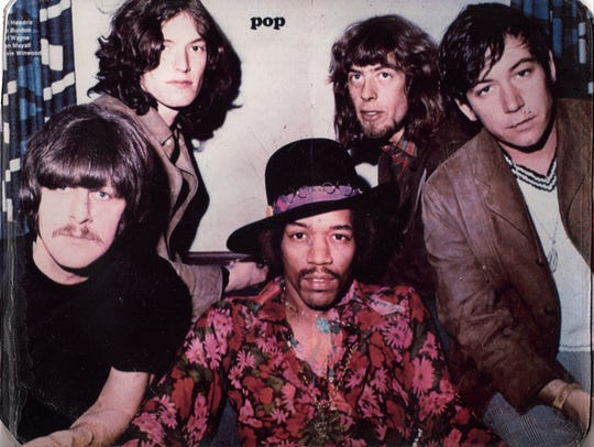 Steve Winwood (upper left) is pictured in the late