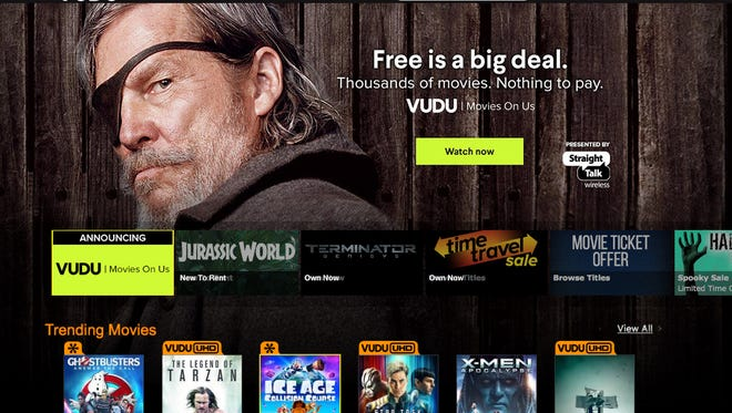 Streaming service Vudu has begun offering ad-supported free movies and TV.