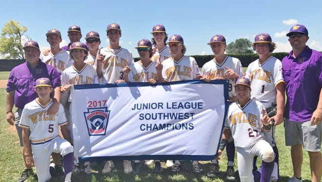 The Wylie Little League Juniors defeated Texas East 10-7 on Monday to win the Junior League Southwest regional championship in Santa Fe.