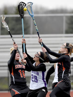 Central York and Northern High School players battle