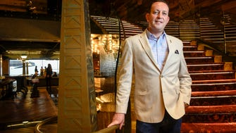 Avi Niego, general manager of the Bobby Hotel, stands on the stairs of the new hotel in Nashville on Monday, April 23, 2018.