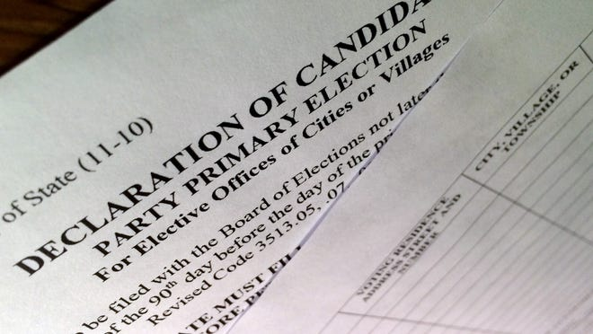 Declaration of Candidacy, Party Primary Election, for Elective Offices of Cities or Villages