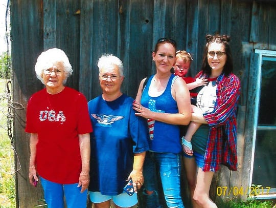 Five generations from Abilene celebrate the Fourth