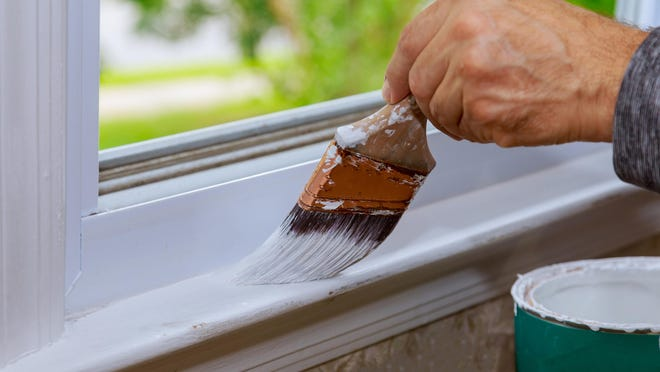 Summer is a good time for projects like repainting windowsills.