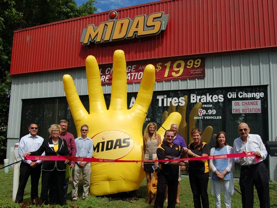 The Greater Naples Chamber of Commerce recently hosted a ribbon-cutting ceremony for Midas Auto Service Experts.