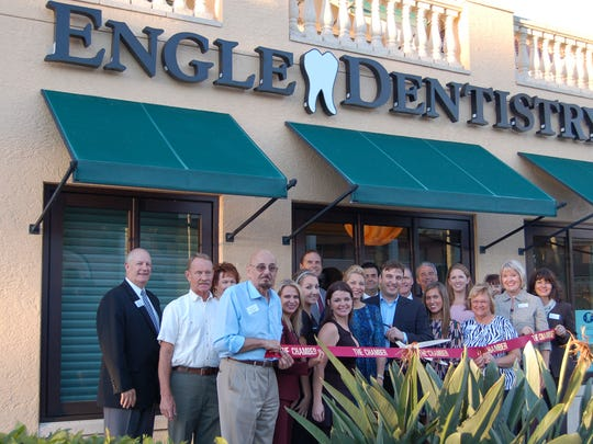 The Greater Naples Chamber of Commerce recently hosted a ribbon-cutting ceremony for Engle Dentistry.