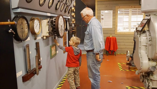 A youngster checks out the engine room at the Door County Maritime Museum in Sturgeon Bay. Ages 12 and younger will be admitted free on Sundays in February with a paid adult admission.