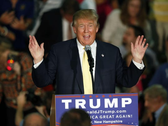 Republican presidential candidate Donald Trump, who