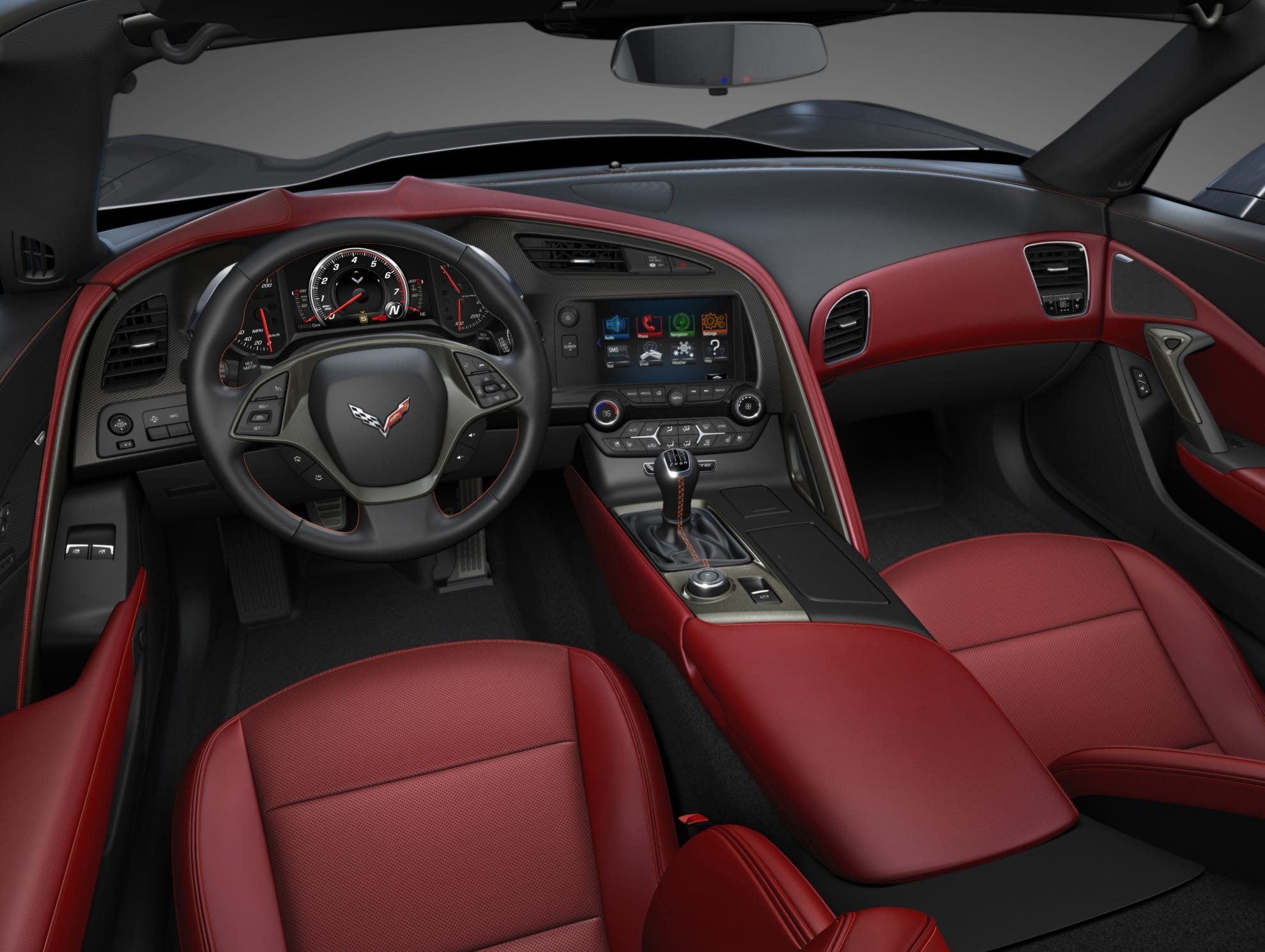 Designers for the 2014 Corvette Stingray have created an upscale interior in look and materials that is a significant improvement over the C6 interior that some critics rapped as cheap in look and feel.
