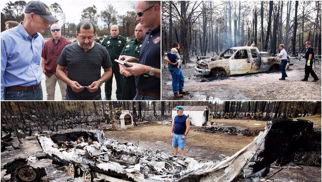 Scenes from the 400 acre brush fire that ripped through Lehigh Acres on Friday.