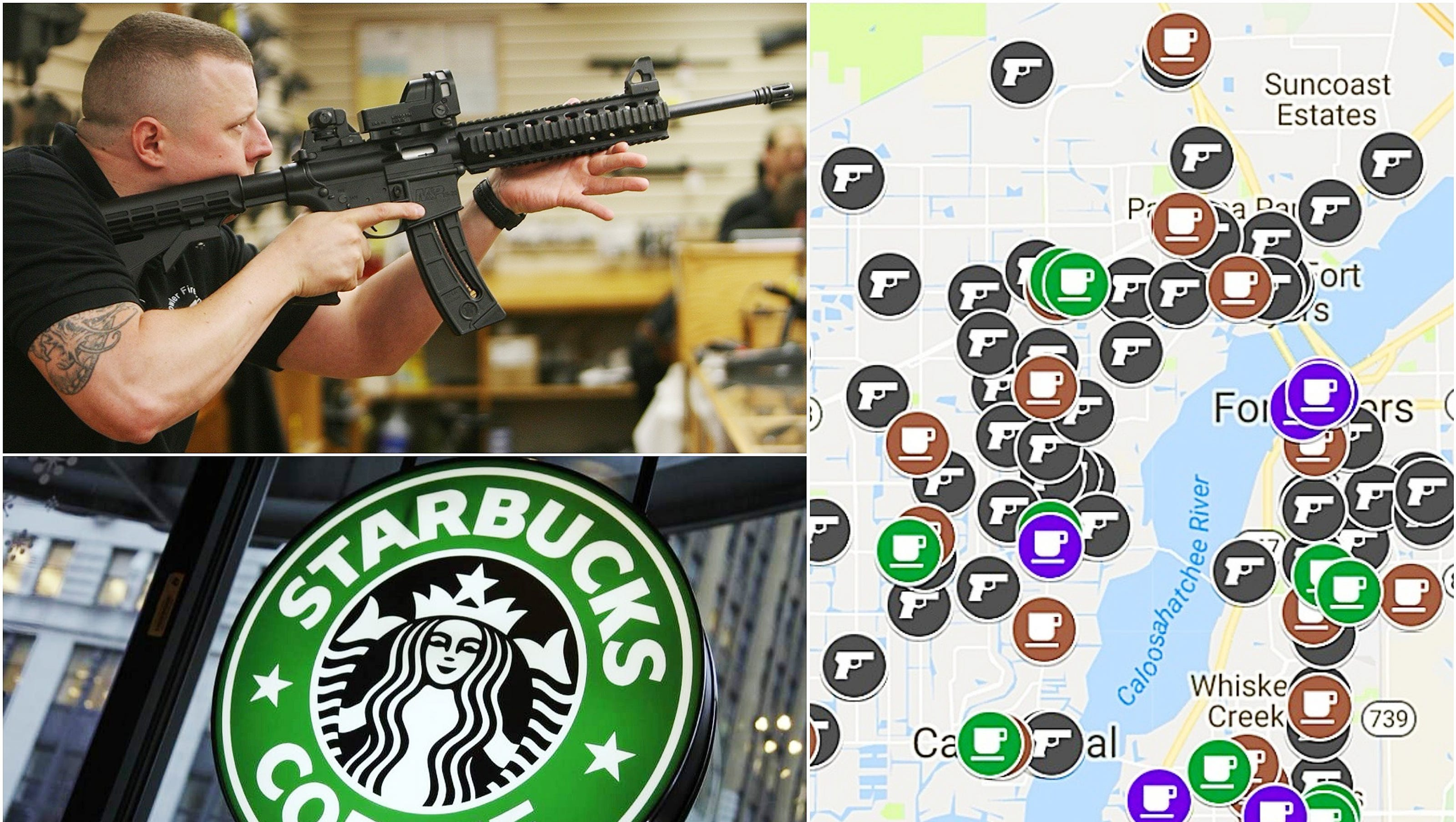 Lee County Has Nearly Twice As Many Gun Sellers Than Coffee Shops