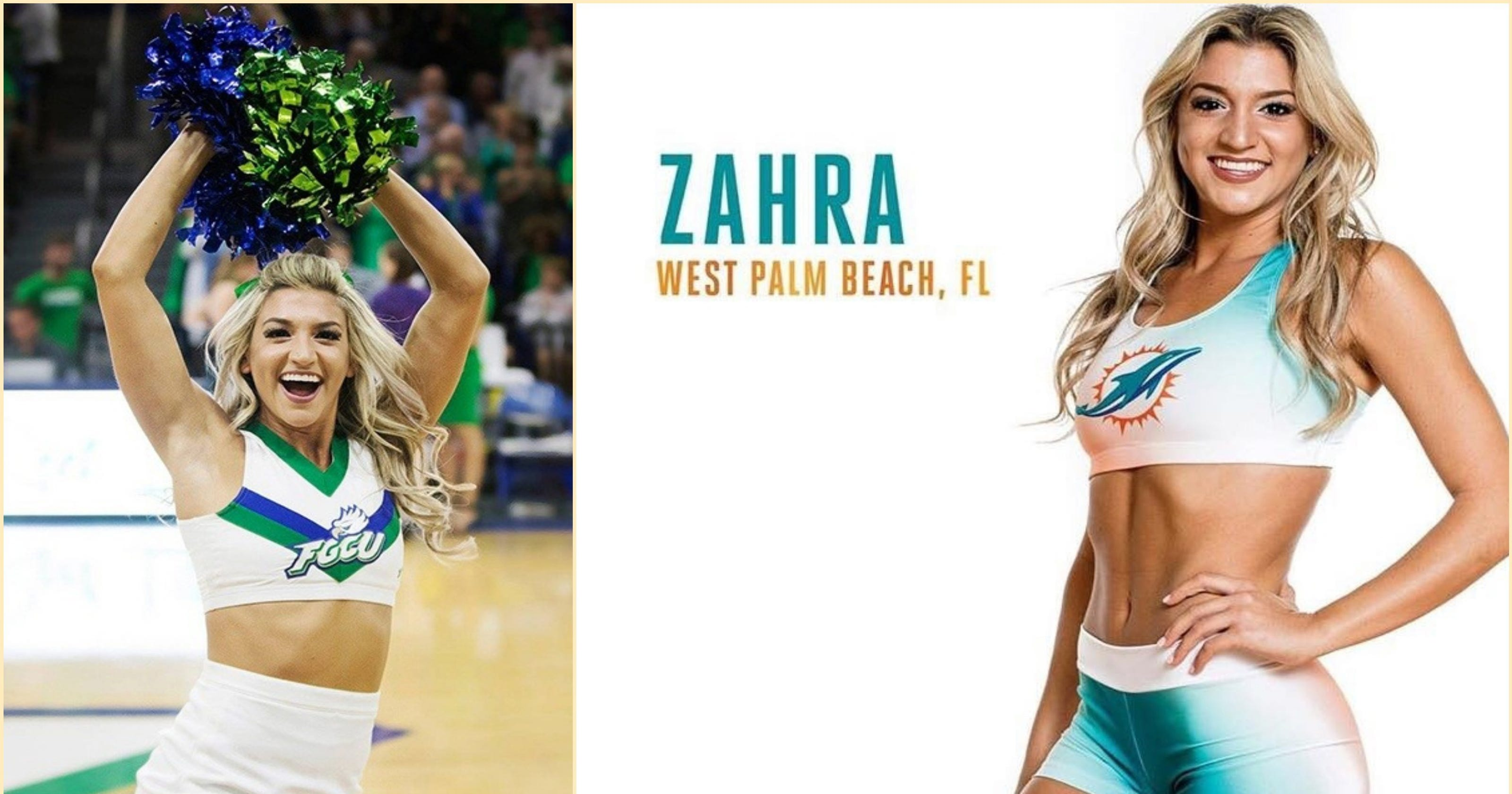af3642b70 FGCU s Zahra Fayad is school s first in the NFL—as Miami Dolphins  cheerleader