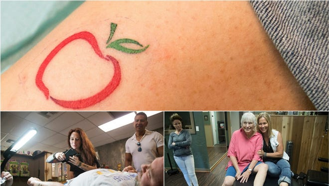 Several Southwest Florida residents got tattoos on Sunday during a fundraising event for SalusCare at Altered Tattoo Company in south Fort Myers. SalusCare offers behavioral healthcare services in Southwest Florida.