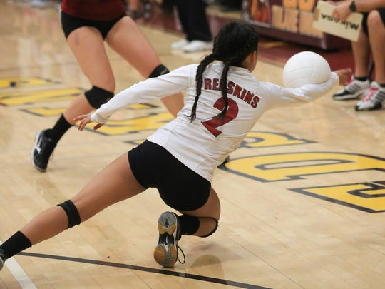 The Tulare Union High School volleyball team played