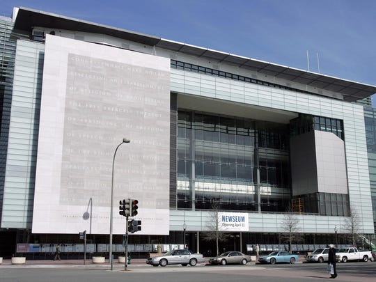 The exterior of the Newseum, a 250,000 square-foot museum dedicated to news, is seen in Washington, D.C, Feb. 21, 2008. Johns Hopkins University is acquiring the building, it was announced Friday.