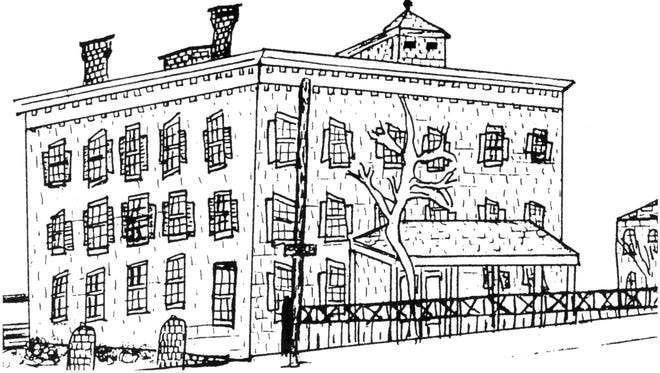 Drawing of the Crispus Attucks Center by Shawn Dennis