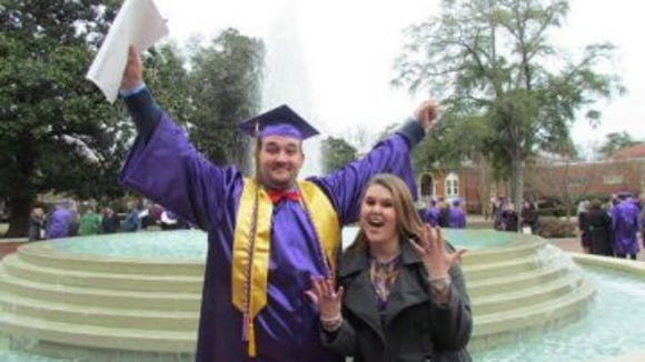 Zack Cleghorn with his girlfriend at his graduation. (Photo: Provided by Zack Cleghorn)