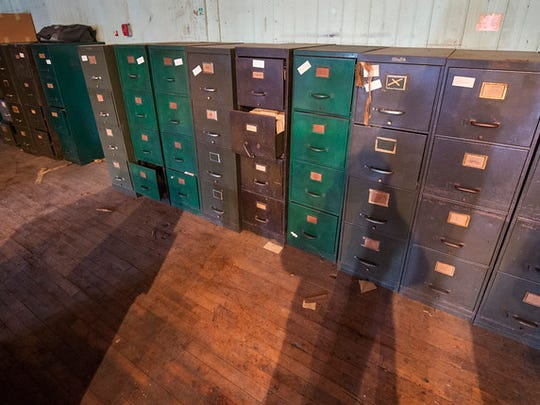 Filing cabinets filled with archive clips from the Gazette & Daily, at the York County Heritage Trust.  Paul Kuehnel - Daily Record/Sunday News