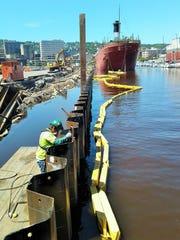 Welding of a new canal wall was in full swing earlier