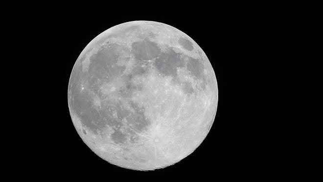 """The """"supermoon"""" we saw on July 11. Tonight's will be even larger, as Earth and the moon will be closer than normal — 221,765 miles, according to NASA."""