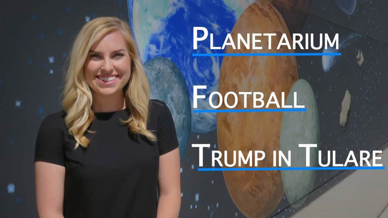 On this week's episode of VTD Student News, we take a look at TCOE's Planetarium, preview this week's football games, and students sound off on The Donald's trip to Tulare.