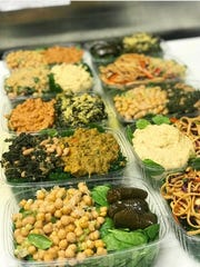 A selection of salads at Greens and Grains.