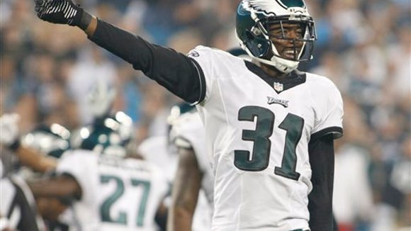 Eagles cornerback Byron Maxwell had 63 tackles and 2 interceptions last season, his first with the team.