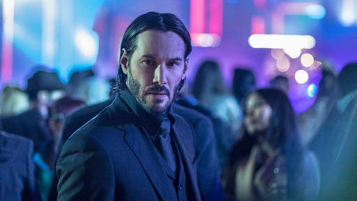 "This image released by Lionsgate shows Keanu Reeves in a scene from, ""John Wick: Chapter 2."""