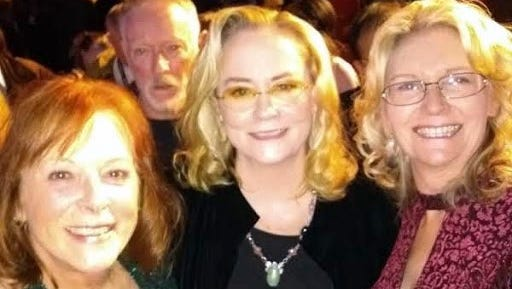 """All smiles at the premiere of """"Rose"""" are from left Delana Michaels (Clements), Cybil Shepherd and Mary Maxson"""